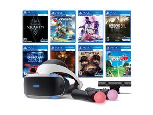 PlayStation VR 11-In-1 Deluxe 8 Games Bundle: VR Headset, Camera, Move Motion Controllers, Skyrim, Resident Evil 7, Bravo Team, Battlezone, RIGS, Until Dawn, Blood & Truth, Everybody's Golf