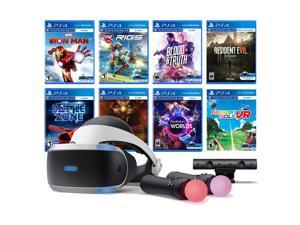 PlayStation VR 11-In-1 Deluxe 8 Games Bundle: VR Headset, Camera, Move Motion Controllers, Iron Man, VR Worlds, Resident Evil 7, Battlezone, RIGS, Until Dawn, Blood & Truth, Everybody's Golf