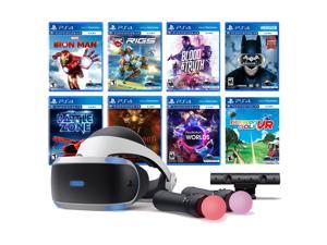 PlayStation VR 11-In-1 Deluxe 8 Games Bundle: VR Headset, Camera, Move Motion Controllers, Iron Man, VR Worlds, Batman, Battlezone, RIGS, Until Dawn, Blood & Truth, Everybody's Golf