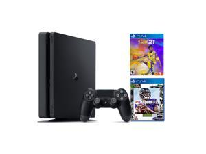 PlayStation 4 1TB Console with 2020 Sports Bundle - PS4 Slim 1TB Jet Black HDR Gaming Console, Wireless Controller and Games