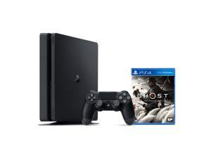 PlayStation 4 1TB Console with Ghost of Tsushima - PS4 Slim 1TB Jet Black HDR Gaming Console, Wireless Controller and Game