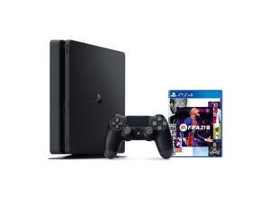 PlayStation 4 1TB Console with FIFA 21 - PS4 Slim 1TB Jet Black HDR Gaming Console, Wireless Controller and Game