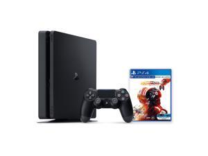 PlayStation 4 1TB Console with Star Wars: Squadrons - PS4 Slim 1TB Jet Black HDR Gaming Console, Wireless Controller and Game