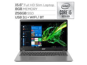 "Acer Aspire 3 A315 Slim Laptop, 15.6"" Full HD, Quad-Core Intel Core i5-1035G1 up to 3.60 GHz, 8GB RAM, 256GB SSD, Ethernet, WebCam, HDMI, KeyPad, Win 10"