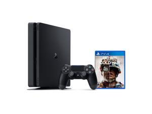 PlayStation 4 1TB Console with Call of Duty: Black Ops Cold War - PS4 Slim 1TB Jet Black HDR Gaming Console, Wireless Controller and Game