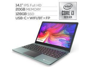"Gateway Notebook Ultra Slim Laptop 14.1"" IPS FHD Intel Core i3-1005G1 Up to 3.4GHz 20GB RAM 128GB SSD USB-C FP Reader Webcam HDMI Wi-Fi THX Audio Win 10 S Green"