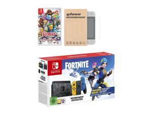 Nintendo Switch Fortnite Wildcat Edition and Game Bundle: Limited Console Set, Pre-Installed Fortnite, Epic Wildcat Outfits, 2000 V-Bucks, Hyrule Warriors, Mytrix Tempered Glass Screen Protector