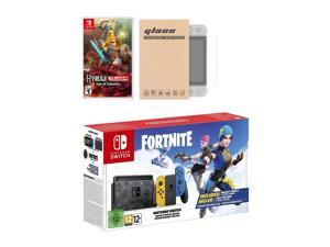Nintendo Switch Fortnite Wildcat Edition and Game Bundle: Limited Console Set, Pre-Installed Fortnite, Epic Wildcat Outfits, 2000 V-Bucks, Hyrule Warriors: Age of Calamity, Mytrix Screen Protector