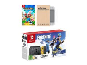 Nintendo Switch Fortnite Wildcat Edition and Game Bundle: Limited Console Set, Pre-Installed Fortnite, Epic Wildcat Outfits, 2000 V-Bucks, Mario Rabbids Kingdom Battle, Mytrix Glass Screen Protector