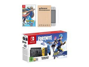 Nintendo Switch Fortnite Wildcat Edition and Game Bundle: Limited Console Set, Pre-Installed Fortnite, Epic Wildcat Outfits, 2000 V-Bucks, Pokemon Sword, Mytrix Tempered Glass Screen Protector