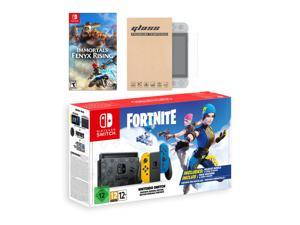Nintendo Switch Fortnite Wildcat Edition and Game Bundle: Limited Console Set, Pre-Installed Fortnite, Epic Wildcat Outfits, 2000 V-Bucks, Immortals Fenyx Rising, Mytrix Screen Protector