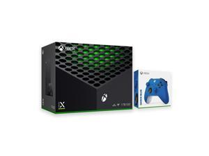 2020 Newest X Gaming Console Bundle - 1TB SSD Black Xbox with Two Xbox Wireless Controllers Black and Blue