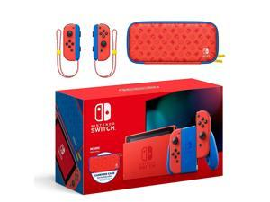 2021 New Nintendo Switch Mario Red & Blue Limited Edition - Featuring Mario Red & Blue Design, Mario Iconography Carrying Case and Screen Protector