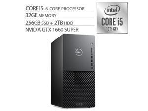 Dell XPS Desktop PC Intel 10th Core i5-10400 6-cores up to 4.3Ghz NVIDIA GeForce GTX 1660 SUPER 6GB GDDR6 32GB RAM 256GB SSD+2TB HDD USB-C RJ-45 LAN HDMI BT WiFi Win10