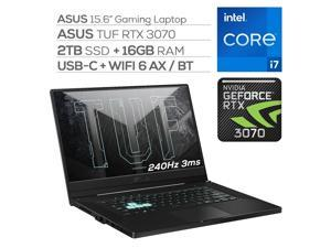 "ASUS TUF 3070 Gaming Laptop, 240Hz 3ms FHD 15.6"" Display, Intel Core i7-11370H, GeForce RTX 3070 8GB GDDR6, 16GB RAM, 2TB SSD, Thunderbolt 4, Backlit KB, WiFi 6, Ethernet, Win 10"