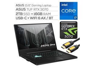 "ASUS TUF 3070 Gaming Laptop, 240Hz 3ms FHD 15.6"" Display, Intel Core i7-11370H, GeForce RTX 3070 8GB GDDR6, 16GB RAM, 2TB SSD, Thunderbolt 4, Backlit KB, WiFi 6, Mytrix HDMI Cable, Win 10"