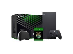 2020 Newest X Gaming Console Bundle - 1TB SSD Black Xbox Console and Wireless Controller with Sea of Thieves Full Game and Xbox Controller Protective Hard Shell Case