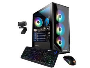 iBUYPOWER Pro Gaming Desktop PC, AMD Ryzen 5 3600, Radeon RX 5500 XT 4GB, 32GB DDR4 RAM, 1TB SSD+1TB HDD, RGB Case, HDMI/DP, RJ-45, WiFi, Mytrix Webcam, Win10 w/keyboard and mouse