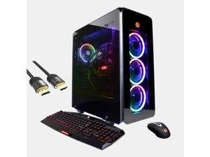 CyberPowerPC Supreme Gaming Liquid Cool Desktop PC, GeForce RTX 3090, Intel Core i9-10900F, 64GB RAM, 2TB SSD+2TB HDD, USB-C, HDMI/DP, RJ-45, Wi-Fi, RGB Tower, Mytrix HDMI 2.1 Cable, Win10