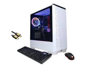 CyberpowerPC Gamer Xtreme 3060 VR Gaming Desktop, Intel i5-11600KF, GeForce RTX 3060, 16GB RAM, 256GB PCIe SSD+1TB HDD, USB-C, HDMI/DP, RJ-45, Wi-Fi, RGB Tower, Mytrix HDMI Cable, Win 10