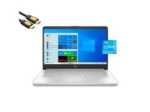 "2021 Premium HP 14"" FHD (1980x1080) Laptop, Intel Core i3-1115G4 up to 4.1GHz, 16GB DDR4 RAM, 256GB PCIe SSD, USB-C, HDMI, FingerPrint, SD Reader, Wi-Fi, Mytrix HDMI Cable, Win 10"