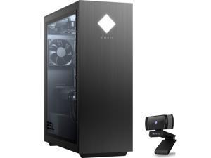 HP OMEN Gaming Desktop, Intel Core i5-10400, GeForce GTX 1660 SUPER 6GB, 16GB RAM, 512GB SSD+1TB HDD, USB-C, HDMI/DP/DVI, RJ-45, Mytrix Webcam, Win10 w/wired keyboard and mouse