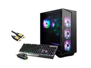 MSI Aegis RS Liquid Cool Gaming Desktop, Intel 10-Core i9-10900K, GeForce RTX 3080, 16GB RAM, 512GB PCIe SSD+1TB HDD, USB-C, DP, HDMI, Wi-Fi 6, RGB Rig, Mytrix HDMI 2.1 Cable, Win 16