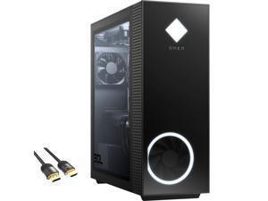 HP OMEN 30L 3060 Ti Liquid Cool Gaming Desktop, 8-Core AMD Ryzen 7 5800X, GeForce RTX 3060 Ti, 16GB RGB RAM, 512GB PCIe SSD+1TB HDD, USB-C, HDMI/DP, RJ-45, Wi-Fi, RGB, Mytrix HDMI 2.1 Cable, Win 10