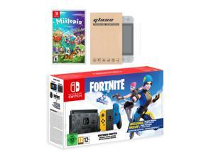 Nintendo Switch Fortnite Wildcat Edition and Game Bundle: Limited Console Set, Pre-Installed Fortnite, Epic Wildcat Outfits, 2000 V-Bucks, Miitopia, Mytrix Screen Protector