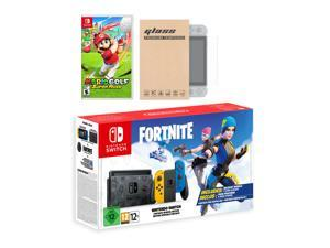 Nintendo Switch Fortnite Wildcat Edition and Game Bundle: Limited Console Set, Pre-Installed Fortnite, Epic Wildcat Outfits, 2000 V-Bucks, Mario Golf: Super Rush, Mytrix Screen Protector