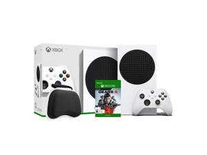 2020 New Xbox All Digital 512GB SSD Console - White Xbox Console and Wireless Controller with Gears 5 Full Game and Black Controller Protective Case