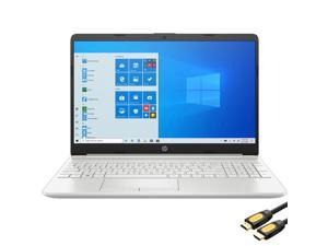 """HP 15.6"""" FHD Micro-Edge Laptop, Intel Core i3-1115G4 up to 4.1GHz, 8GB DDR4 RAM, 256GB PCIe SSD, USB-C, HDMI, Ethernet, FingerPrint, SD Reader, Wi-Fi, HP Fast Charge, Mytrix HDMI Cable, Win 10"""