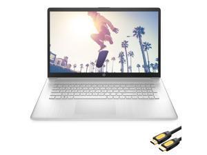 "HP 17.3"" HD+ Touchscreen Laptop, AMD Ryzen 5 5500U (beat i5-10500) 6-Core up to 4.0GHz, 16GB RAM, 256GB SSD+1TB HDD, USB-C, Numeric Keypad, HDMI, Webcam, WiFi, Mytrix HDMI Cable, Win 10"