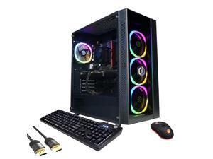 CyberPowerPC Gamer Master 3060 Gaming Desktop, AMD Ryzen 5 5600X Hexa-Core, GeForce RTX 3060 12GB, 8GB RAM, 512GB PCIe SSD+2TB HDD, HDMI/DP, Wi-Fi, RJ-45, RGB, Mytrix HDMI 2.1 Cable, Win 10