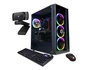 CyberPowerPC Gamer Master 3060 Gaming Desktop, AMD Ryzen 5 5600X Hexa-Core, GeForce RTX 3060 12GB, 8GB RAM, 512GB PCIe SSD+2TB HDD, HDMI/DP, Wi-Fi, RJ-45, RGB, Mytrix Web Camera, Win 10