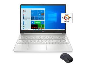"""HP 15.6"""" FHD Slim and Light Laptop for Business and Student, AMD Athlon Silver 3050U, 16GB RAM, 512GB SSD, USB-C, HDMI, Wi-Fi, Bluetooth, Webcam, Mytrix Wireless Mouse, 1 Year Microsoft 365, Win 10"""