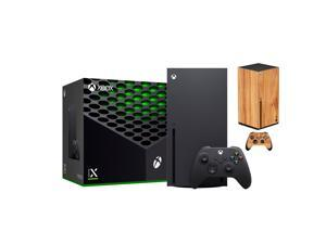 2021 Latest Xbox Gaming Console Black 1TB SSD Bundle with Wireless Controller and Mytrix Technology Full Body Customized Skin Wooden Amber Yellow