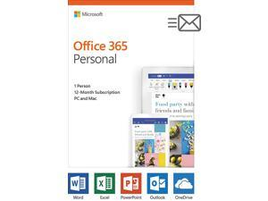 Microsoft Office 365 Personal | 1-year subscription, 1 user, PC/Mac - Box Pack