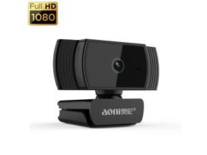 Mytrix AutoFocus Full HD 1080P Aoni Webcam, Built-in Noise Cancelling Mic, USB Webcam for Windows Mac PC Laptop Desktop Video Calling Recording Conferencing Streaming, Skype Zoom Facebook Youtube