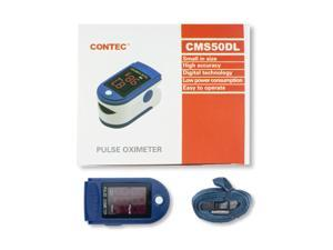 Contec CMS50DL Fingertip Pulse Oximeter, Blood Oxygen Saturation Monitor (SpO2) with Pulse Rate Measurements and Bar Graph, Digital LED Display, Blue