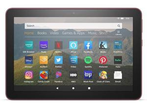 """All-new Fire HD 8 tablet, 8"""" HD display, 32 GB, designed for portable entertainment, Plum"""