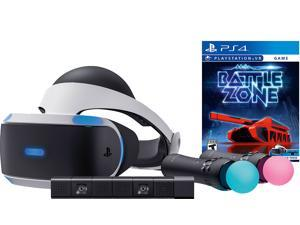 PlayStation VR Battlezone Starter Bundle (4 items): VR Headset, 2 Move Motion Controllers, PlayStation Camera, PSVR Battlezone Game Disc