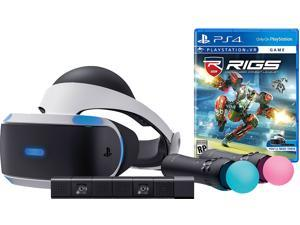 PlayStation VR RIGS Starter Bundle (4 items): VR Headset, 2 Move Motion Controllers, PlayStation Camera, RIGS Mechanized Combat League Game Disc