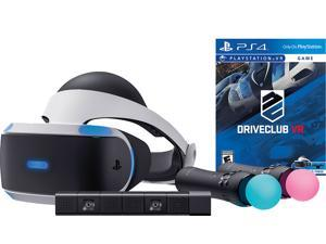 PlayStation VR Driveclub Starter Bundle (4 items): VR Headset, 2 Move Motion Controllers, PlayStation Camera, PSVR Driveclub Game Disc
