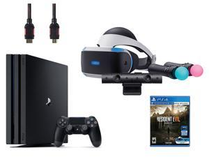PlayStation VR Starter Bundle (5 Items): VR Starter Bundle, PS4 Pro 1TB, Resident Evil 7: Biohazard VR game disc