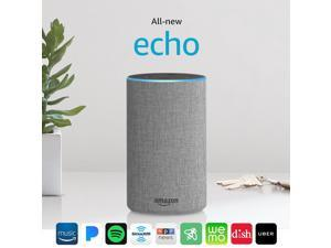 Echo (2nd Generation) with improved sound, powered by Dolby, and a new design – Heather Gray Fabric