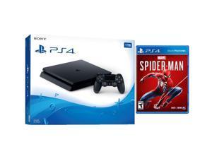 Playstation Marvel's Spider-Man Starter Bundle: Playstation 4 Slim 1TB Console - Black and Marvel's Spider-Man Game