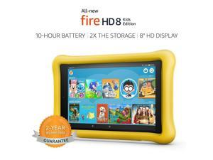 All-New Fire HD 8 Kids Edition 8th Gen Tablet, 8 inch HD Display, 32 GB -Yellow