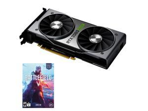 NVIDIA GeForce RTX 2060 Super Founders Edition - 8GB GDDR6 - 2176 Cores - Ray Tracing - DP/HDMI/DVI-DL - VR Ready with Free Battlefield V Code
