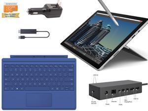 "Microsoft Surface Pro 4 Core i7-6600U 8GB 256GB 12.3"" touch screen w/ 2736x1824 3K 3:2 QHD Windows 10 Pro (Blue Cover, Dock, Wireless Display Bundle)"